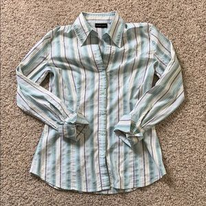 New York & Company Button Up Top Size S